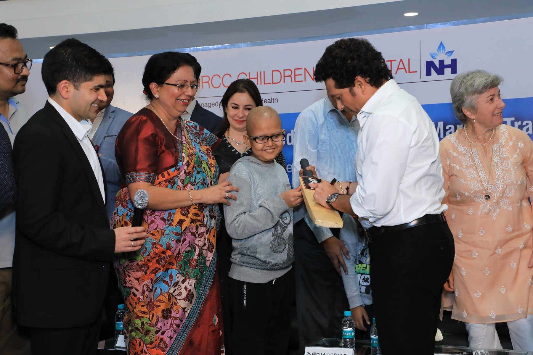 Sachin Tendulkar launches Bone Marrow Transplant Services at Narayana Managed SRCC Childrens Hospital