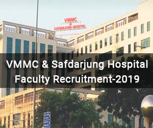 Job Alert: VMMC-Safdarjung Hospital releases 84 vacancies for Assistant Professor post, Details
