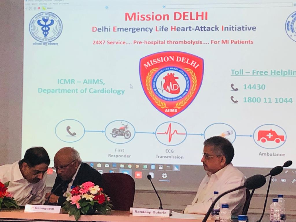 Mission DELHI: ICMR, AIIMS launch pilot project for dealing with emergency of heart attack, Release Helpline No