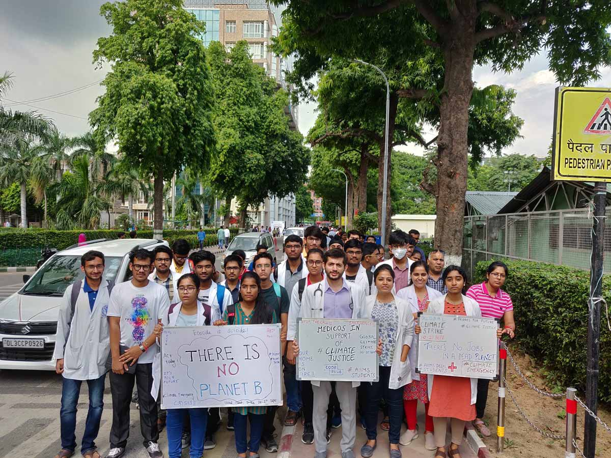 AIIMS Medicos take lead in Awareness on Climate Change, RDA holds march on Air pollution
