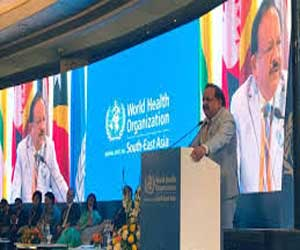 Dr Harsh Vardhan addresses 72nd Session of WHO Regional Committee for South-East Asia
