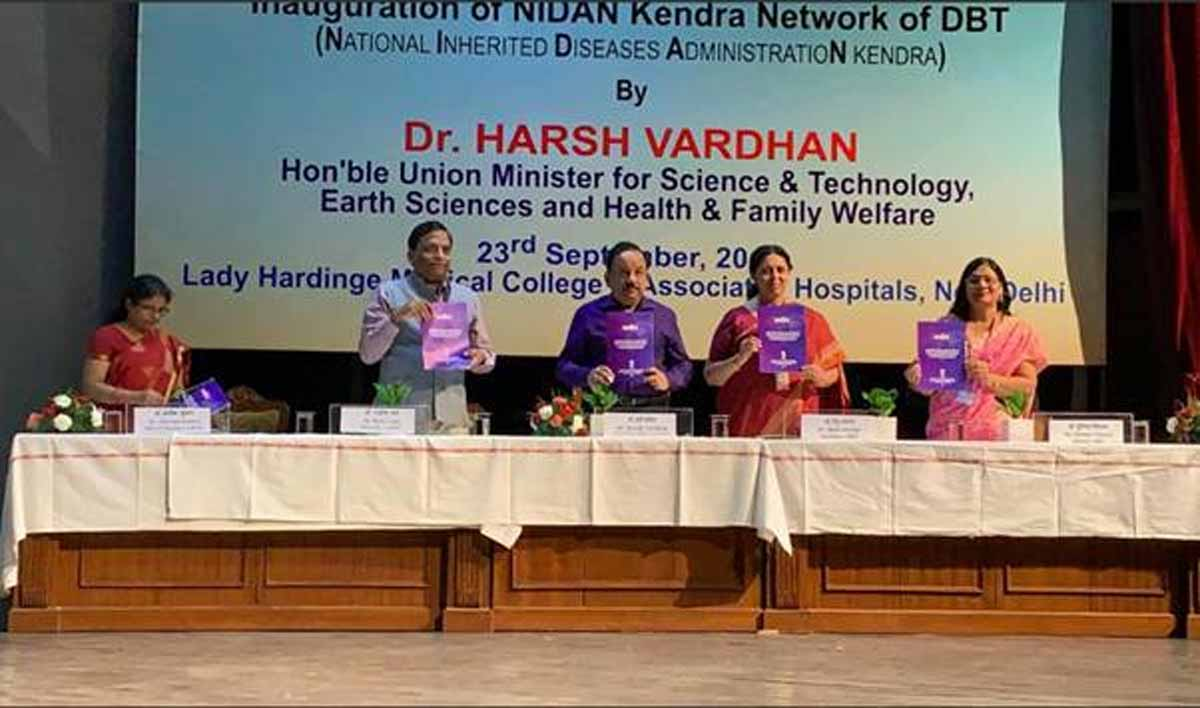 Dr Harsh Vardhan launches UMMID initiative to tackle inherited genetic diseases of new born babies