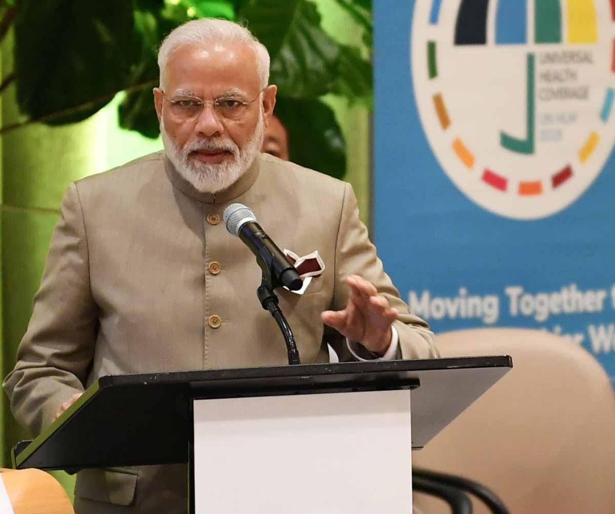 PM Modi speaks at UN; talks about Ayushman Bharat, E cigaretteban, National Nutrition Mission; details
