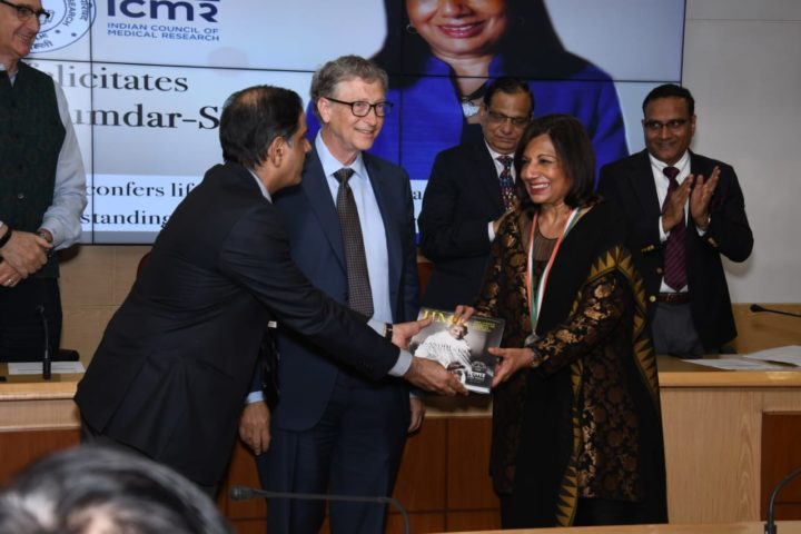 Bill Gates presents ICMR Lifetime Achievement Awards to 3 game changers of Indian Healthcare
